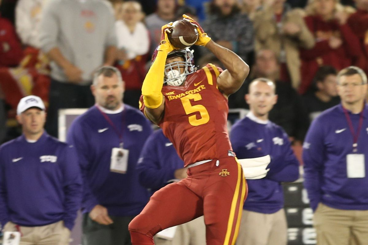 Allen Lazard is an impressive young talent for the Cyclones.