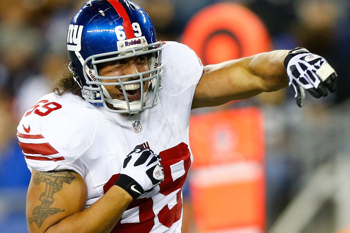 Fomer Giant Justin Trattou is now with the Vikings.