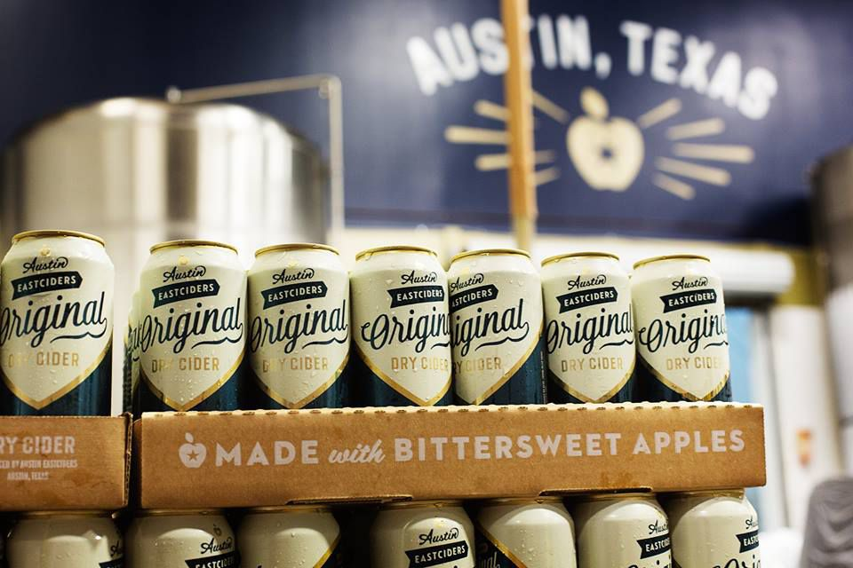 Cans of Austin Eastciders