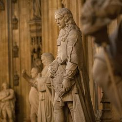 Statues in the House of Lords at The Palace of Westminster, where UVU President Matt Holland spoke to a Parliament group on Monday, July 10, 2017.