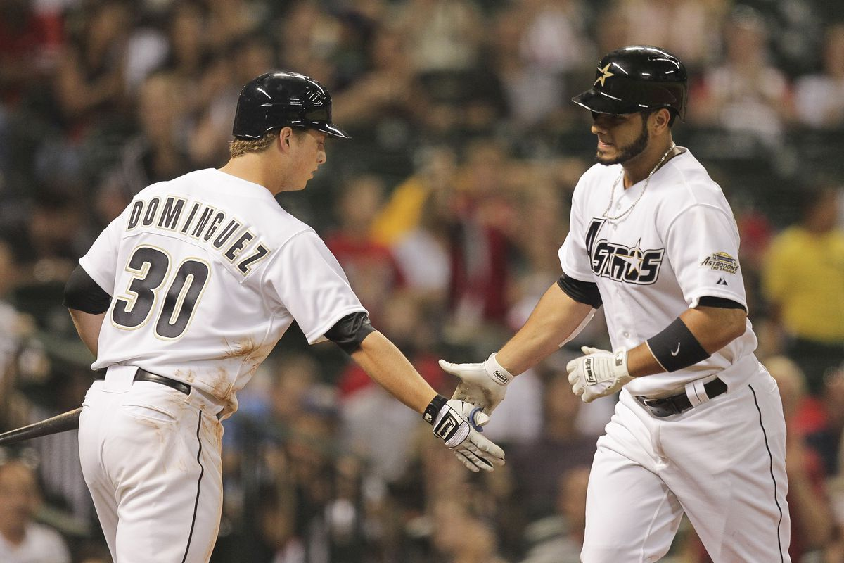 Little did Matt Dominquez know, that after giving Fernando Martinez a high five for a homerun, he'd be giving teammates high fives of his own after a homerun.