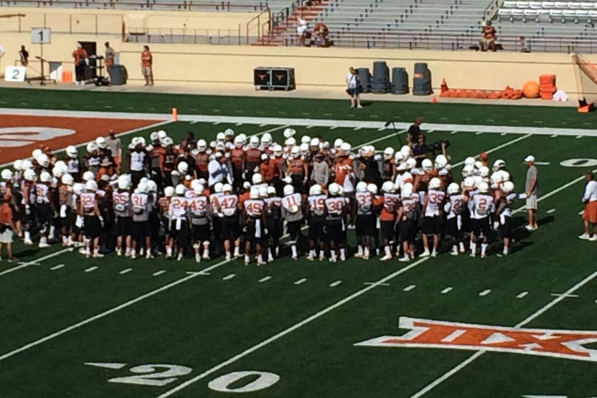 Texas Longhorns Practice: Bull in the Ring Drill