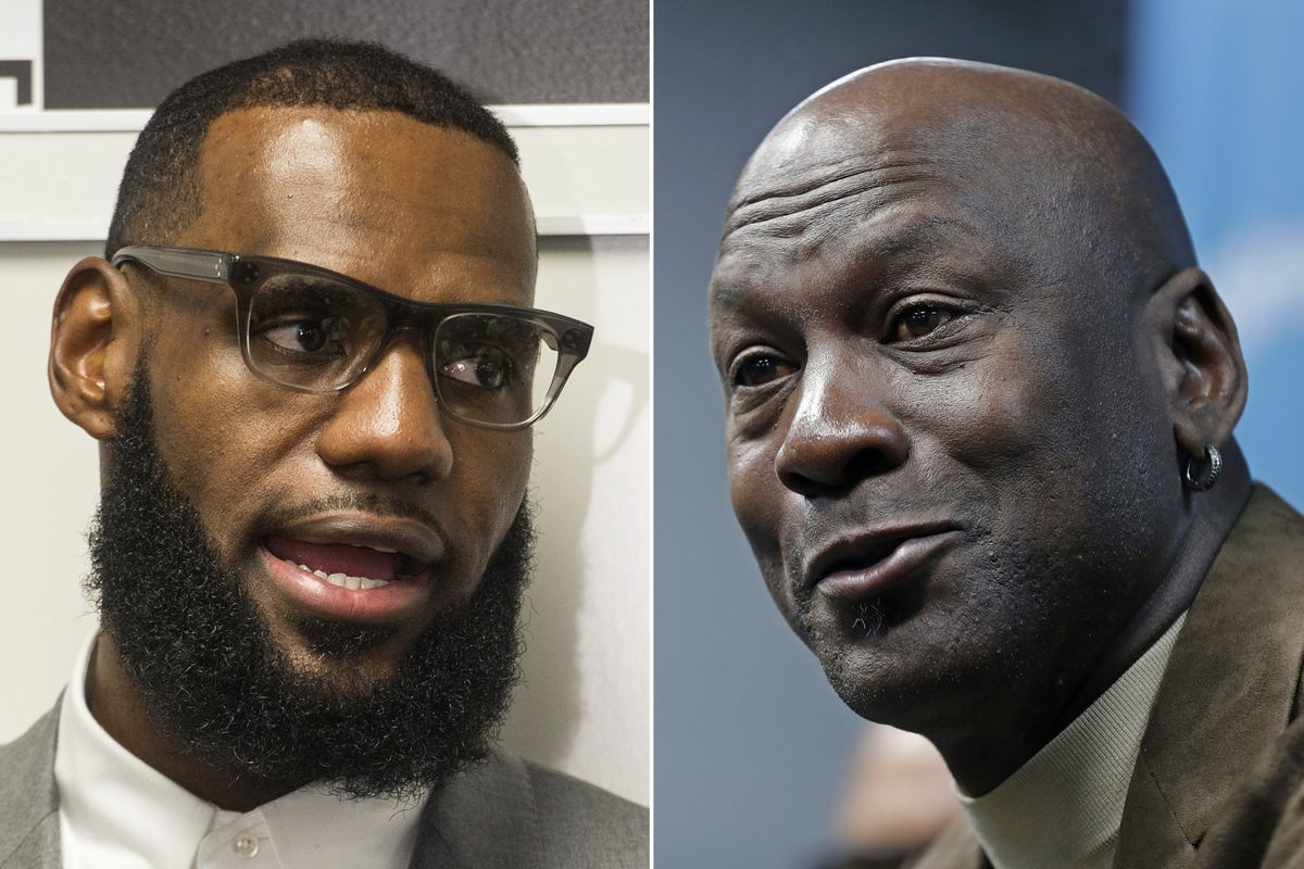 LeBron James has never hesitated to speak out on issues, as opposed to Michael Jordan who kept his thoughts to himself.