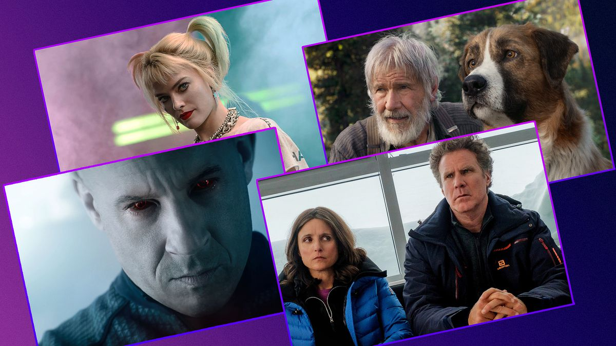 Grid with stills from four movies releasing on streaming