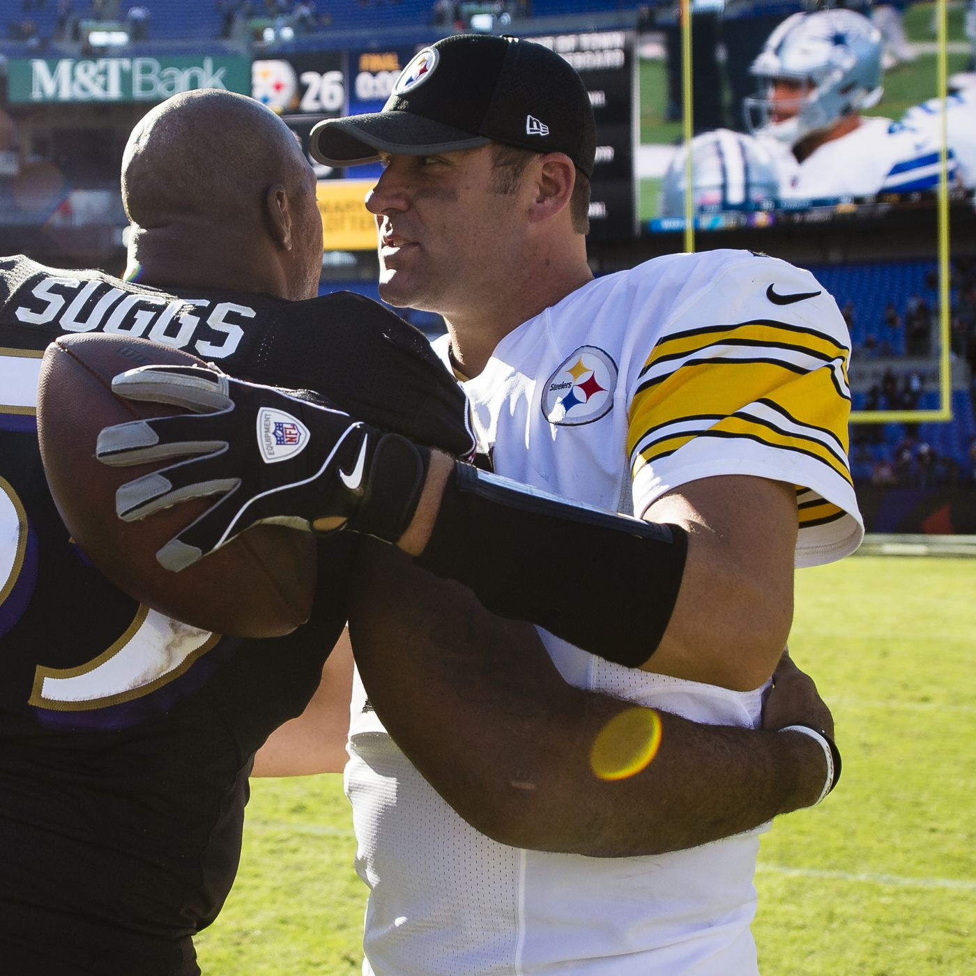"""""""no Roethlisberger For Terrell In Be Says Ben To Beatdown It's Suggs - Steelers' Hall A Ravens' Brainer"""" Fame Baltimore Of"""
