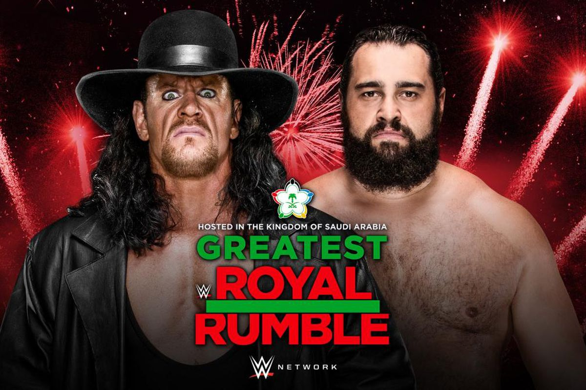 Image result for Undertaker vs Rusev WWE Greatest Royal Rumble