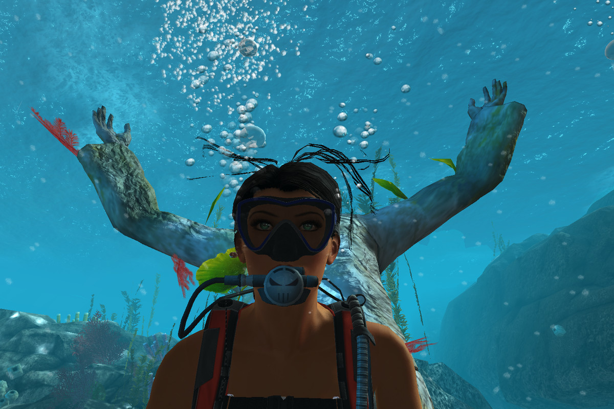 world of diving is an open relaxing foray into virtual reality