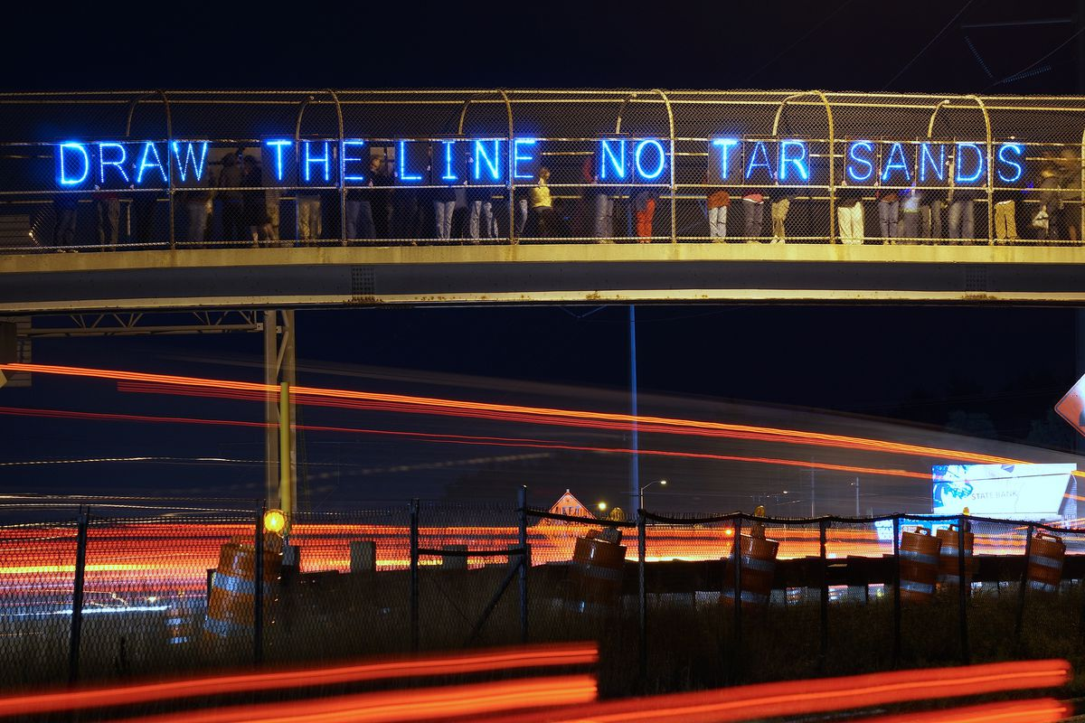 An anti-Keystone protest in Madison, Wisconsin.