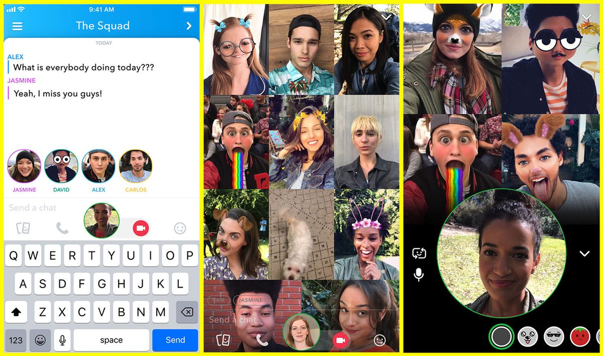Snapchat introduces group video chat and friend tagging in