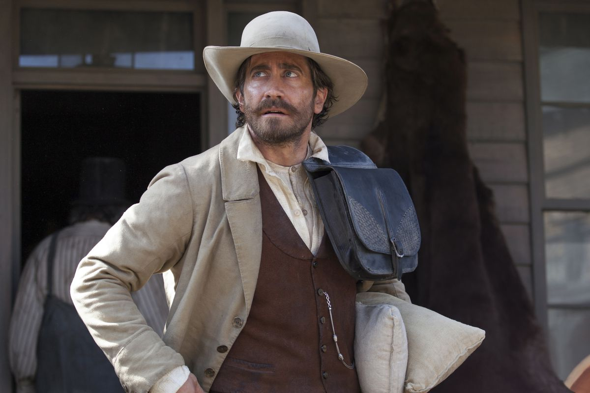 Jake Gyllenhaal stars as Morris in Jacques Audiard's THE SISTERS BROTHERS, an Annapurna Pictures release.<br>Credit : Magali Bragard / Annapurna Pictures