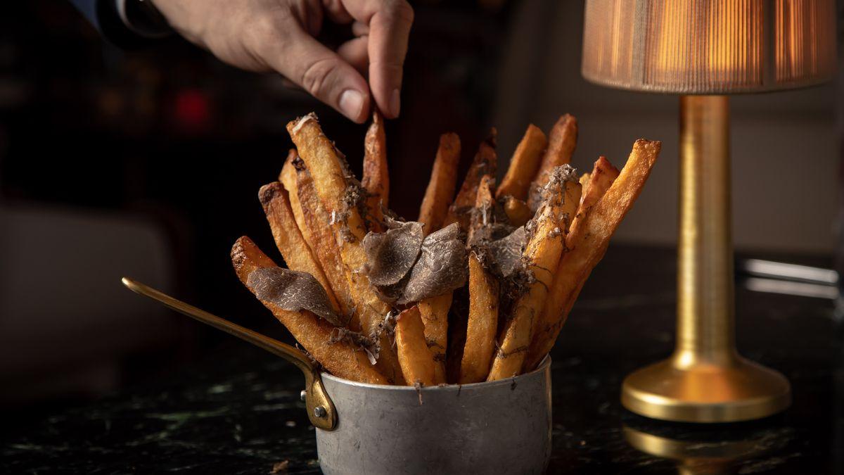 Truffle fries at Bluebird London