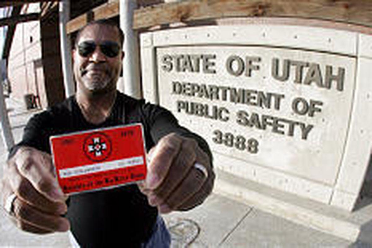 Ron Stallworth carries his KKK membership card as a memento.