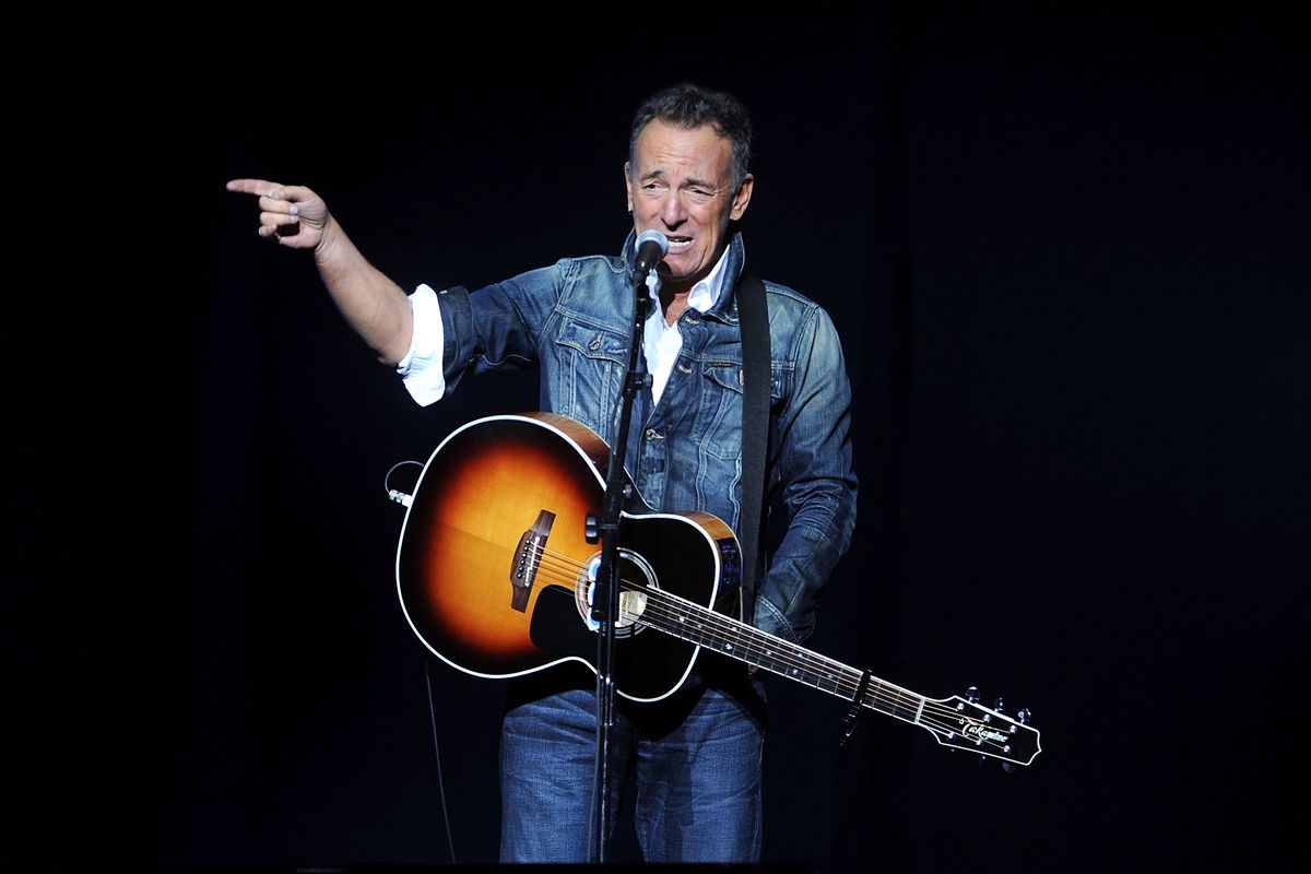 """FILE - In this Nov. 5, 2018 file photo, Bruce Springsteen performs at the 12th annual Stand Up For Heroes benefit concert at the Hulu Theater at Madison Square Garden in New York. Springsteen's new studio release """"Western Stars"""" breaks fresh ground for th"""