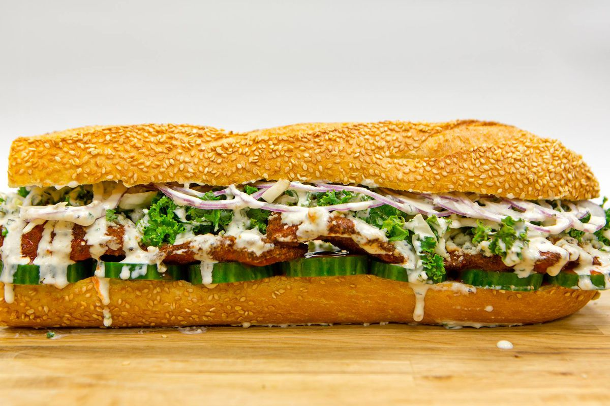 A hoagie from Taylor Gourmet