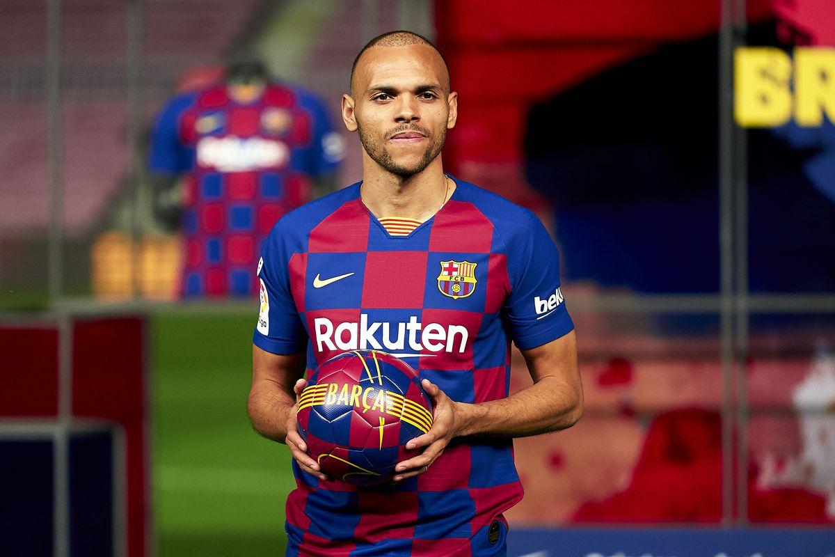 FC Barcelona Unveil New Signing Martin Braithwaite