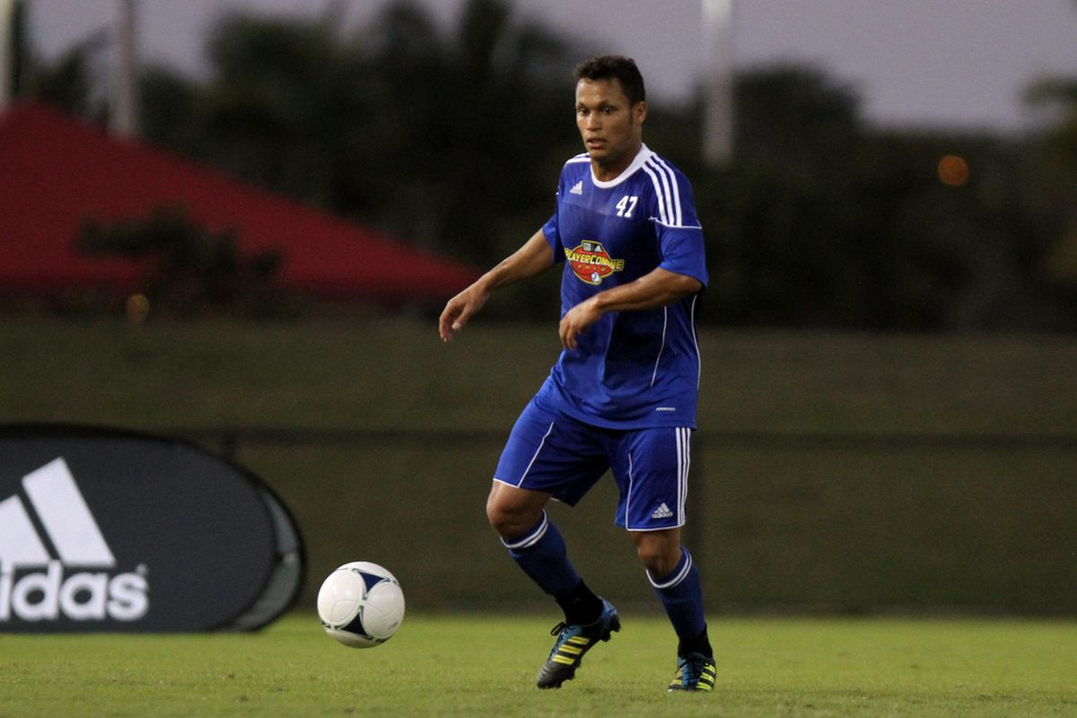 Kenney Walker on the ball at the MLS Combine. Photo courtesy MLSSoccer.com