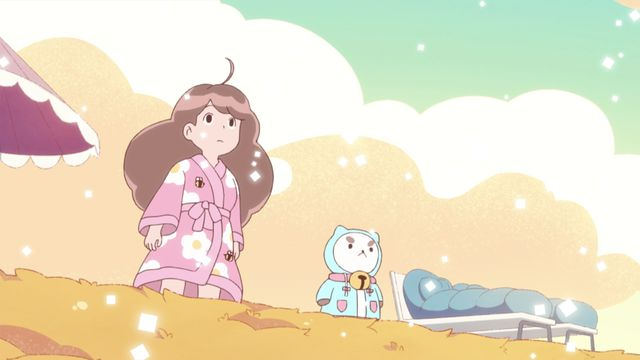 bee and puppycat on the beach