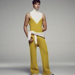 This mustard yellow jumpsuit.