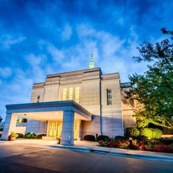 Scott Jarvie is on a mission to capture and compile pictures of every LDS temple in the United States. The Winter Quarters Nebraska Temple is pictured here.