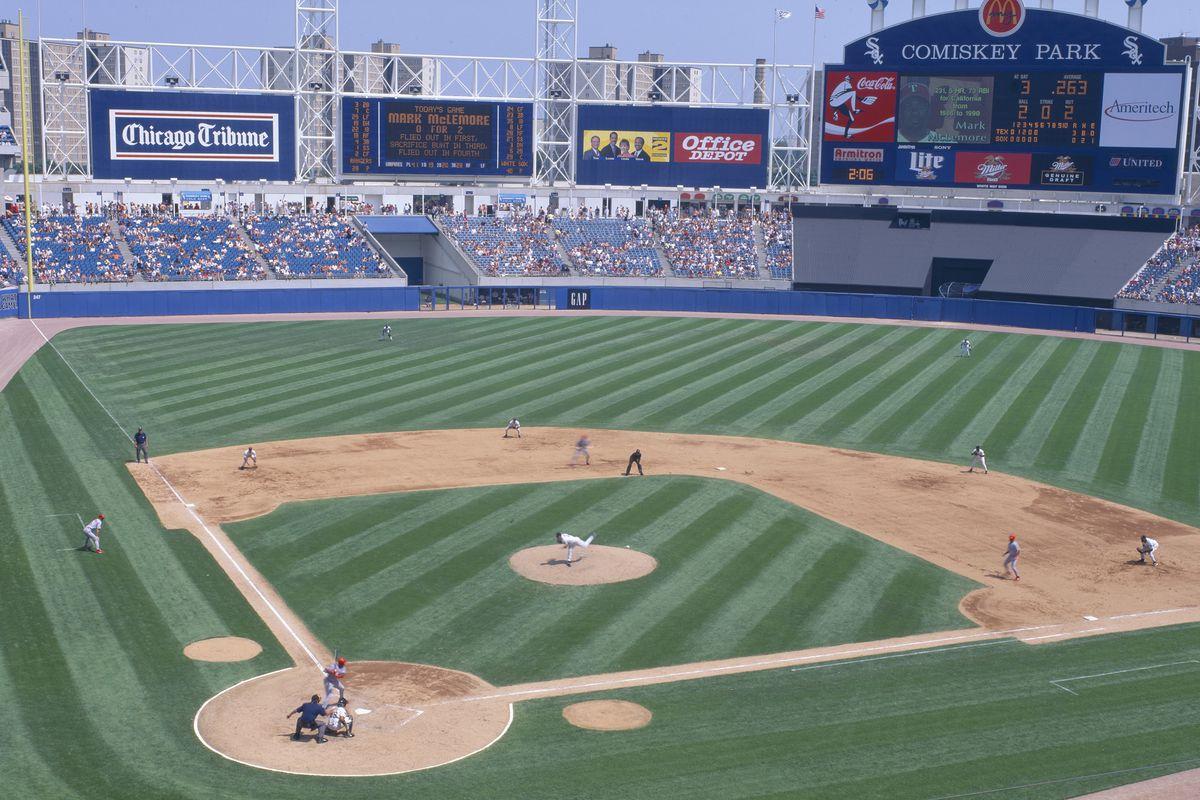 New Comiskey Park, Chicago, White Sox v. Rangers, Illinois