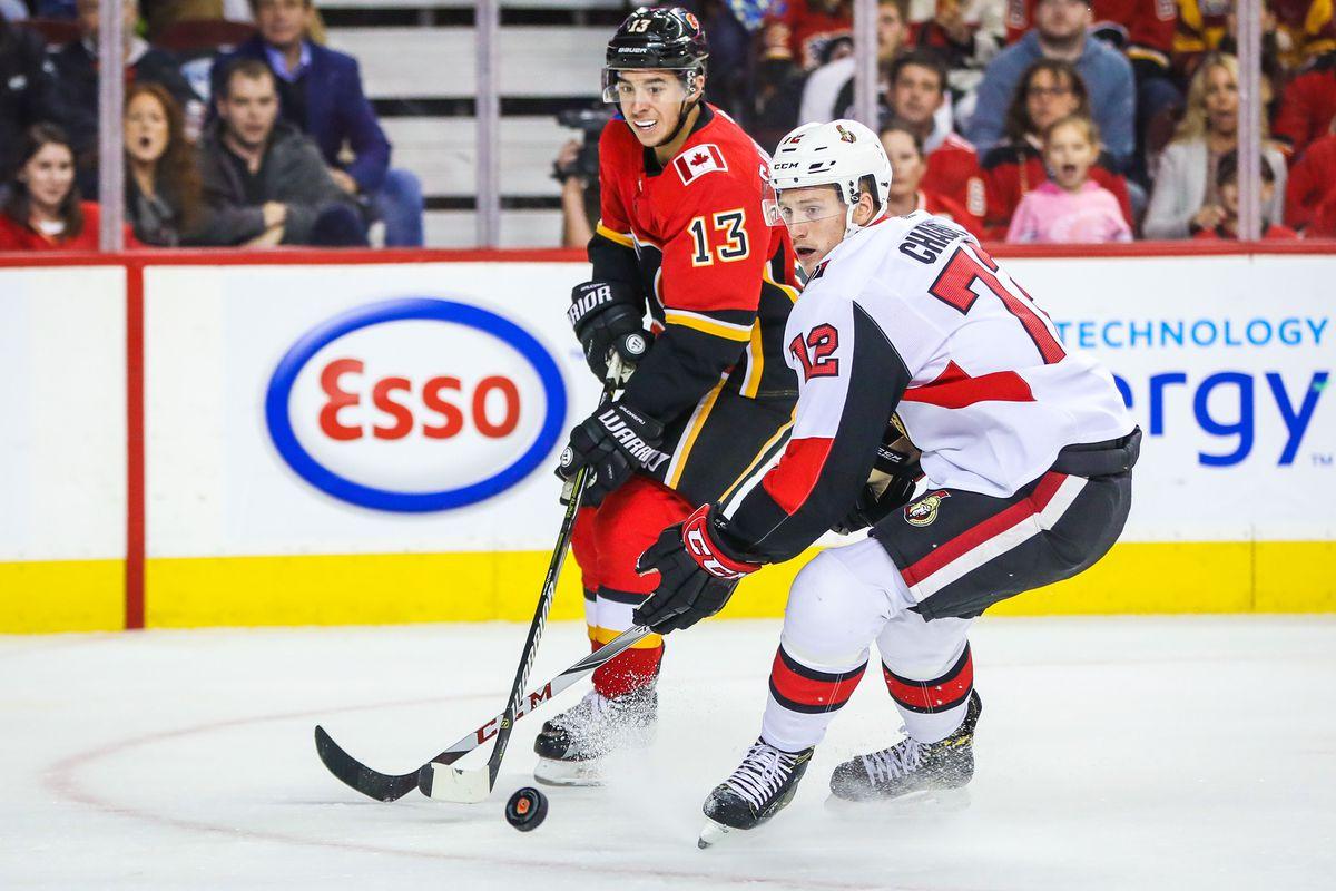 NHL: Ottawa Senators at Calgary Flames