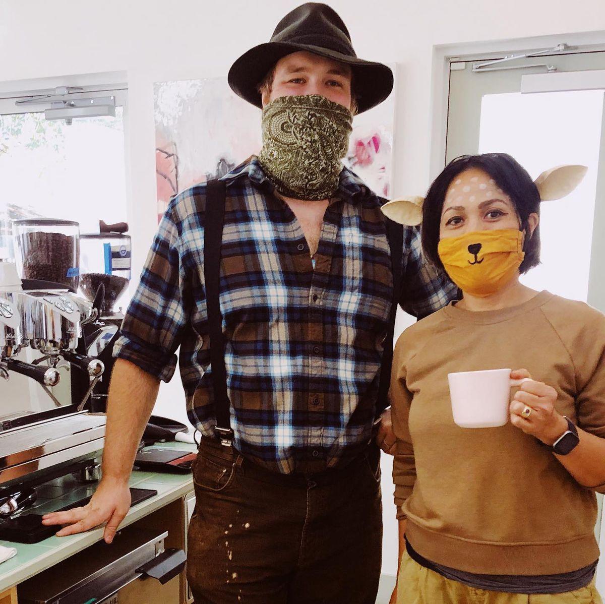 Thai Fresh/Gati's Jam Santicat as a deer and a staffer in Western gear