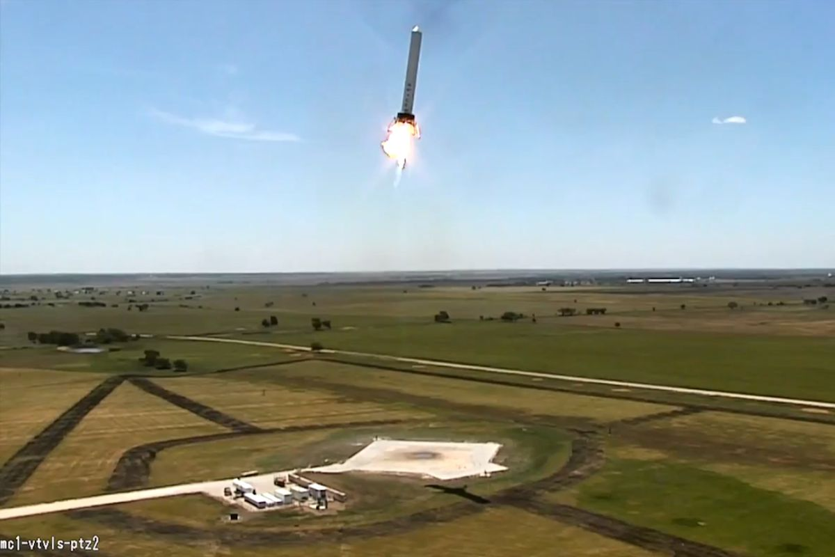 SpaceX lateral motion screengrab (Credit: SpaceX/YouTube)