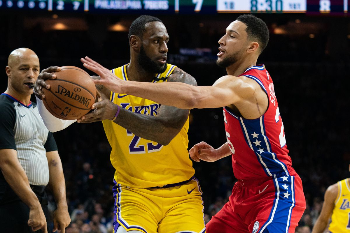Ben Simmons once again demonstrated his defensive prowess against LeBron James