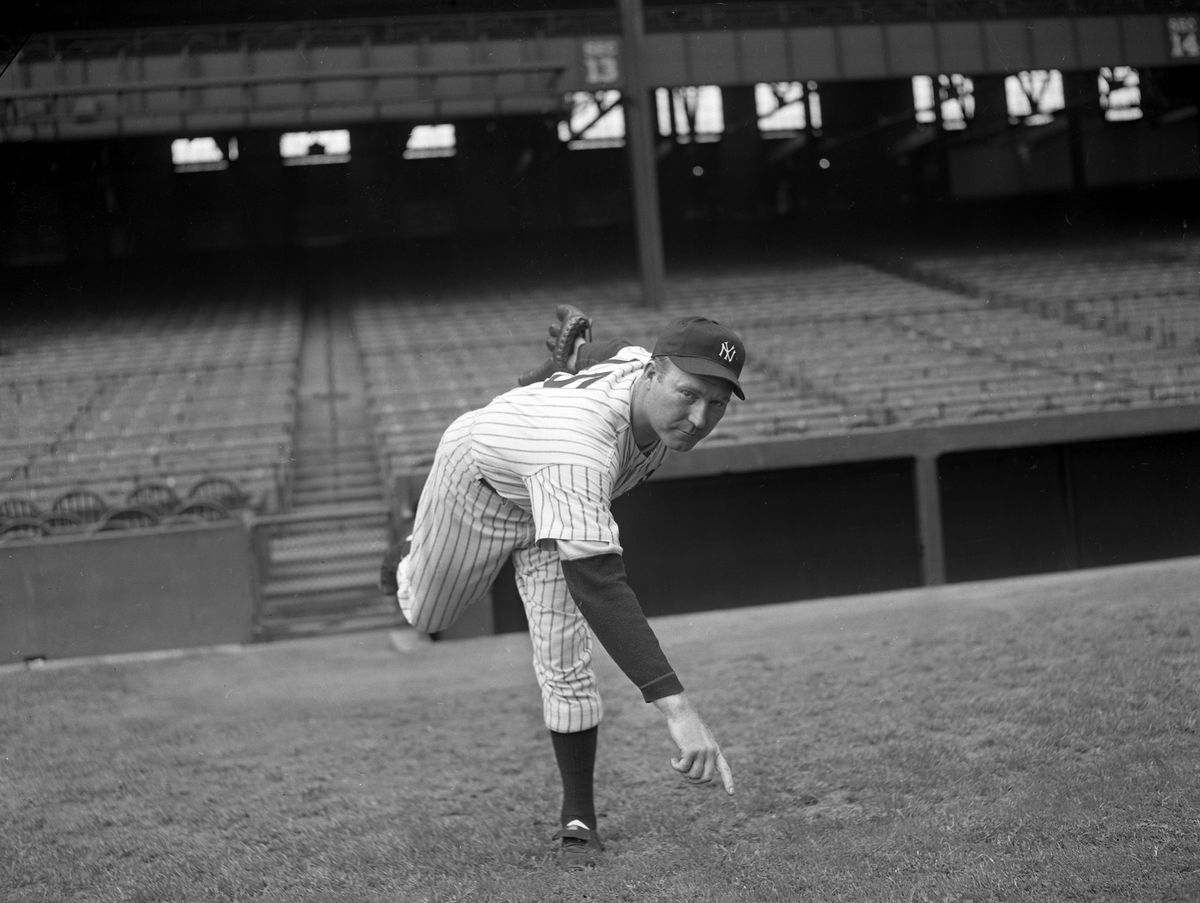 New York Yankees pitcher Red Ruffing