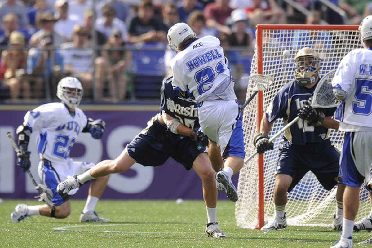 """Target: Your head. Range to Target: OH MY GOD IT'S SO CLOSE!  via <a href=""""http://www4.pictures.zimbio.com/gi/2010+NCAA+Lacrosse+Championship+Championship+QwtFRpgdR85l.jpg"""">www4.pictures.zimbio.com</a>"""