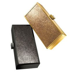 """<b>Tory Burch</b> Sparkle Suede Square Frame Clutch in anthracite or bronze, <a href=""""http://www.toryburch.com/Sparkle-Suede-Square-Frame-Clutch/41129943,default,pd.html?dwvar_41129943_size=OS&dwvar_41129943_color=037&start=4&q=frame%20clutch#"""">$295</a> e"""