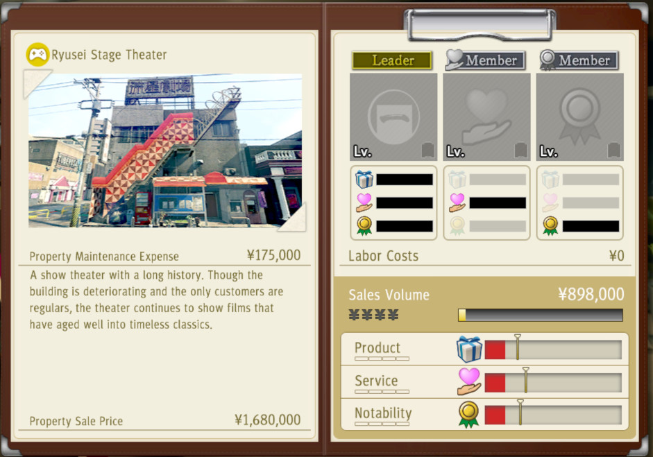One of the possible properties for Ichiban Confections in Yakuza: Like a Dragon
