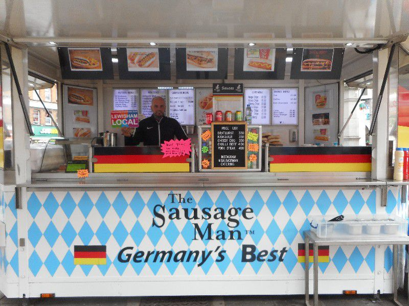 The Sausage Man in Lewisham serves some of London's best hot dogs from its food truck