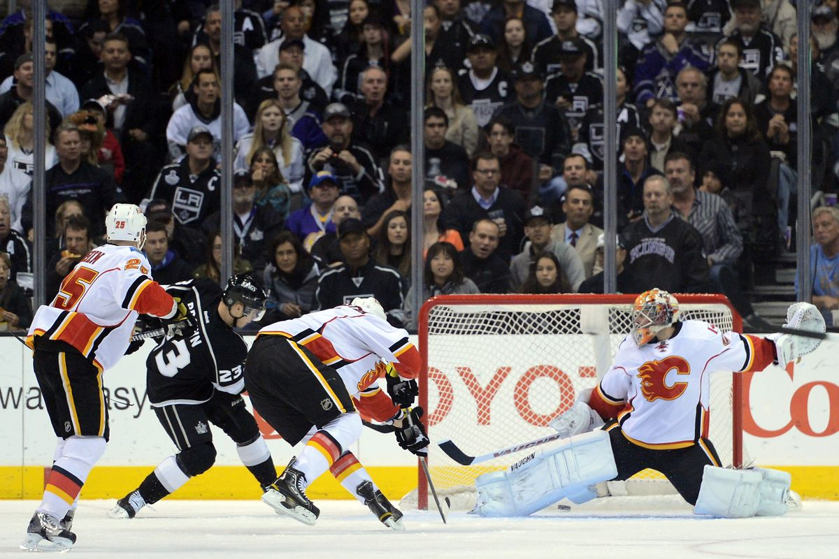 Brown's first-period PP goal set the stage for another win over the Flames.
