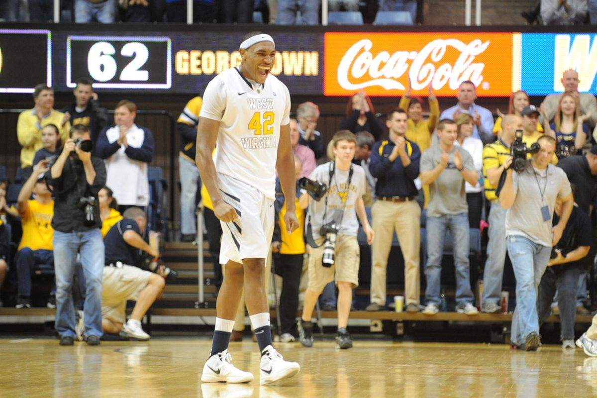 That's right KJ, you and the Mountaineers just beat Georgetown...again.