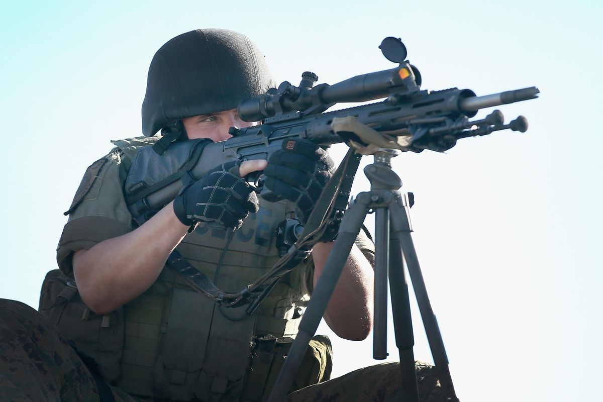 How they're doing police work in Ferguson, Missouri these days.