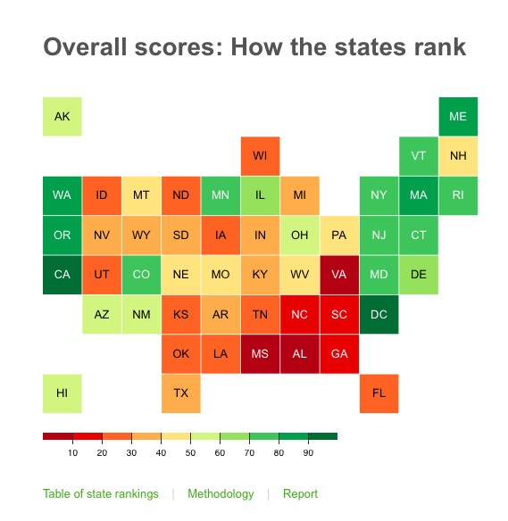 Here are the best and worst states to work in 2019 - Vox