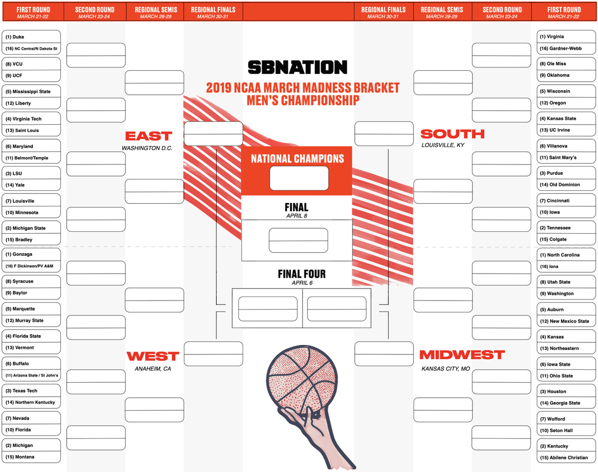 It is a picture of Lucrative Ncaa March Madness Printable Bracket
