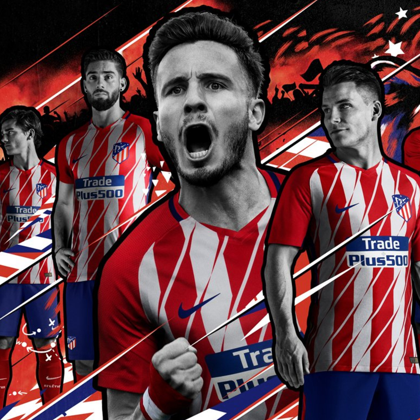 2fcc89ae OFFICIAL: Atlético unveil new kits for 2017-18 - Into the Calderon