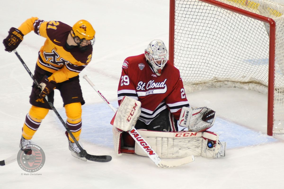 Gallery Photo: NCAA Hockey Tournament Photo Gallery: Minnesota 4 vs St. Cloud State 0