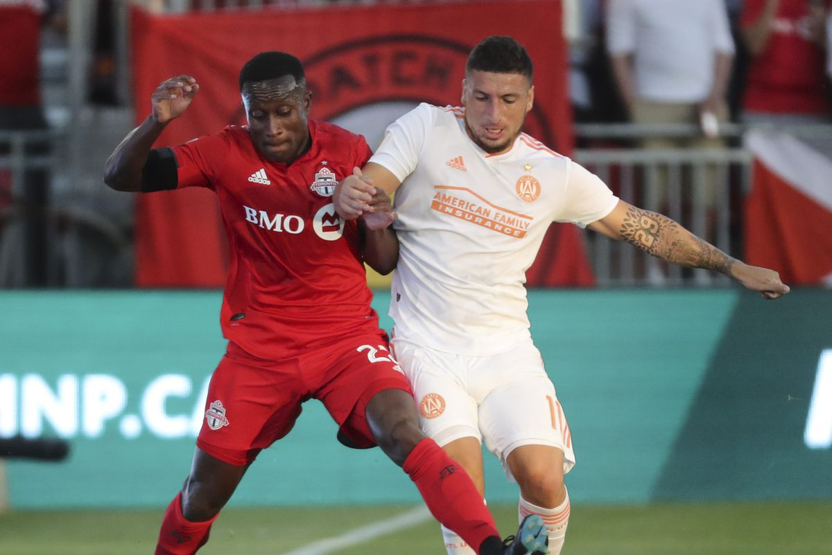 The TFC took on the Atlanta United FC at BMO field in Toronto.