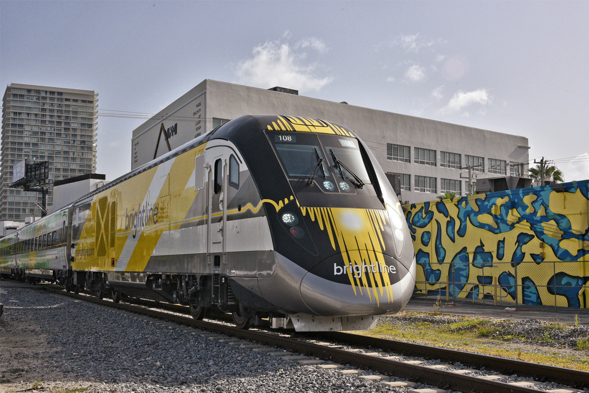 One Of The New Brightline Trains Which Will Begin Running Between Miami And West Palm Beach Florida Later This Month
