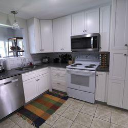 The remodeled kitchen in a new Salt Lake County Division of Youth Services' Milestone Program house in Sandy is pictured on Wednesday, July 8, 2020. The four-bedroom house was remodeled in partnership with Good Shepherd Lutheran Church and will help provide housing to young adults, ages 18-21, who are experiencing homelessness.