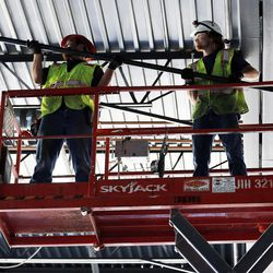 Renovation work continues at Vivint Smart Home Arena in Salt Lake City on Tuesday, June 27, 2017.