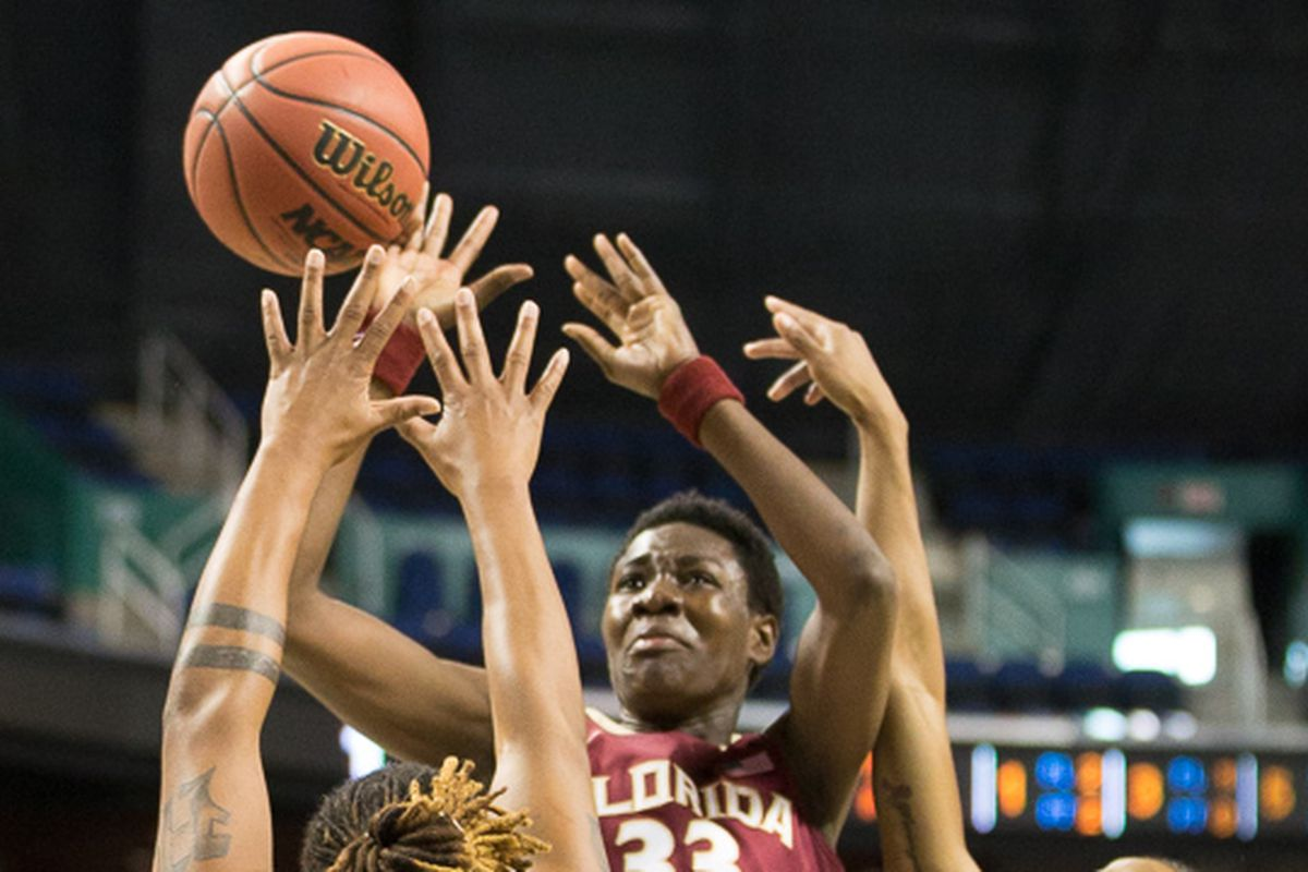 The action was fierce in the paint during the clash between FSU and Miami