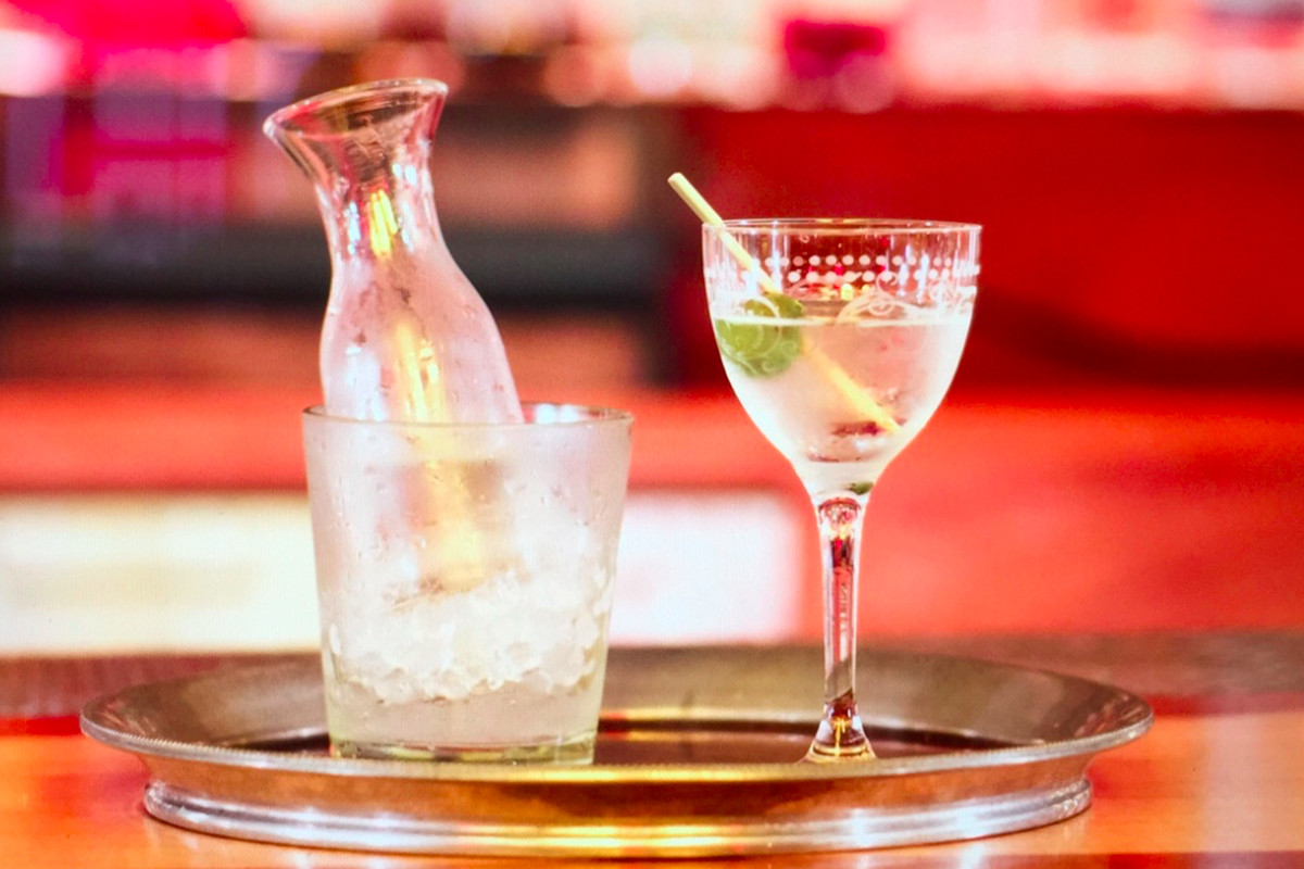 Martini service from Slowly Shirley in New York.