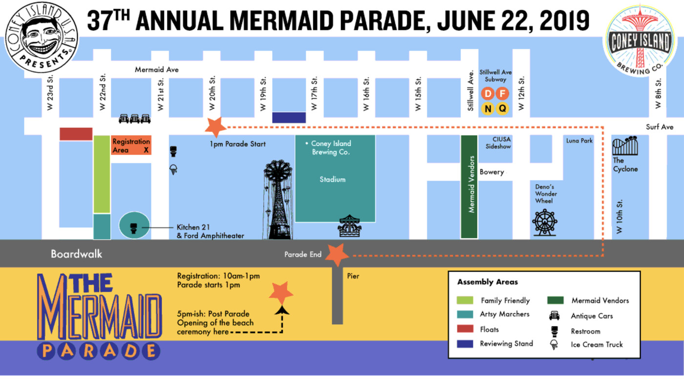 Coney Island Mermaid Parade 2019: Route and street closures