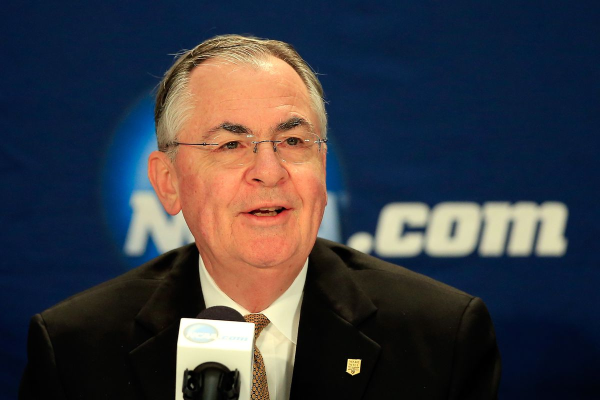 Wake Forest President Nathan Hatch, chair of the Division I Board of Directors.
