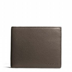 """<strong>Coach</strong> Bleecker Slim Billfold ID Leather Wallet in Sharkskin, <a href=""""http://www.coach.com/online/handbags/Product-bleecker_slim_billfold_id_wallet_in_leather-10551-10051-74590-en?cs=b9r&catId=5000000000000328825&navCatId=90"""">$128</a>"""
