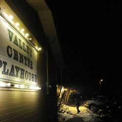 """A visitor enters the Valley Center Playhouse in Lindon for the show """"The Best Christmas Pageant Ever"""" at the Valley Center Playhouse in Lindon on Thursday, Dec. 12, 2013. Owners Keith and Jody Renstrom are closing the playhouse on Dec. 21 after 38 years of community theater."""